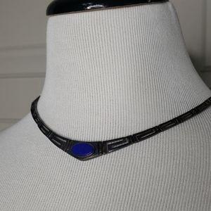 Royal blue stone necklace